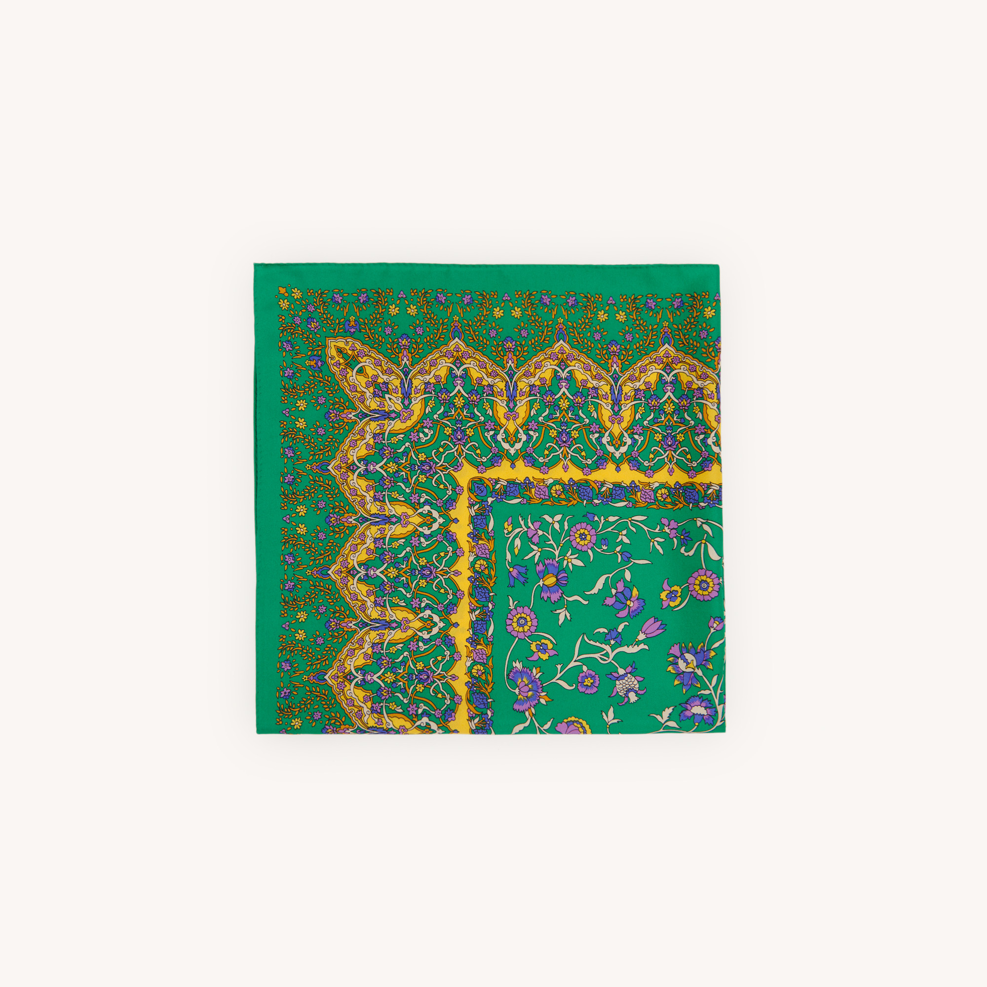 Printed silk scarf - Green