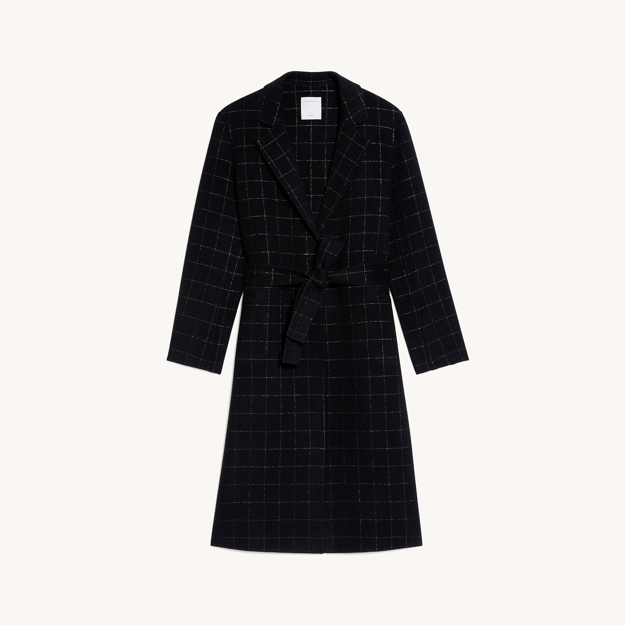 Long coat with fancy stripes - Black