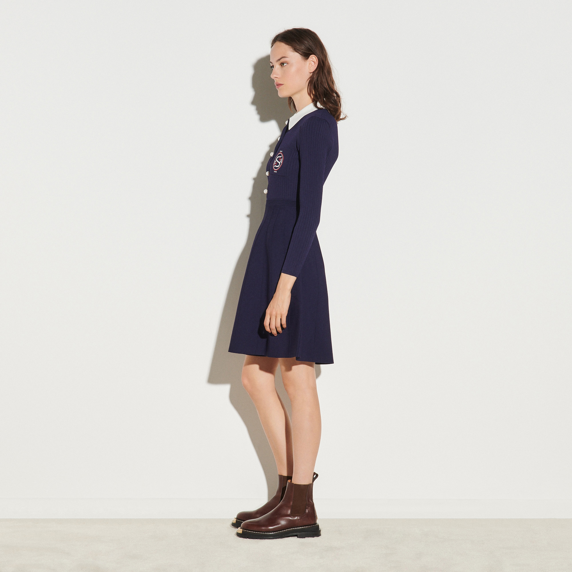 Polo style dress - Navy