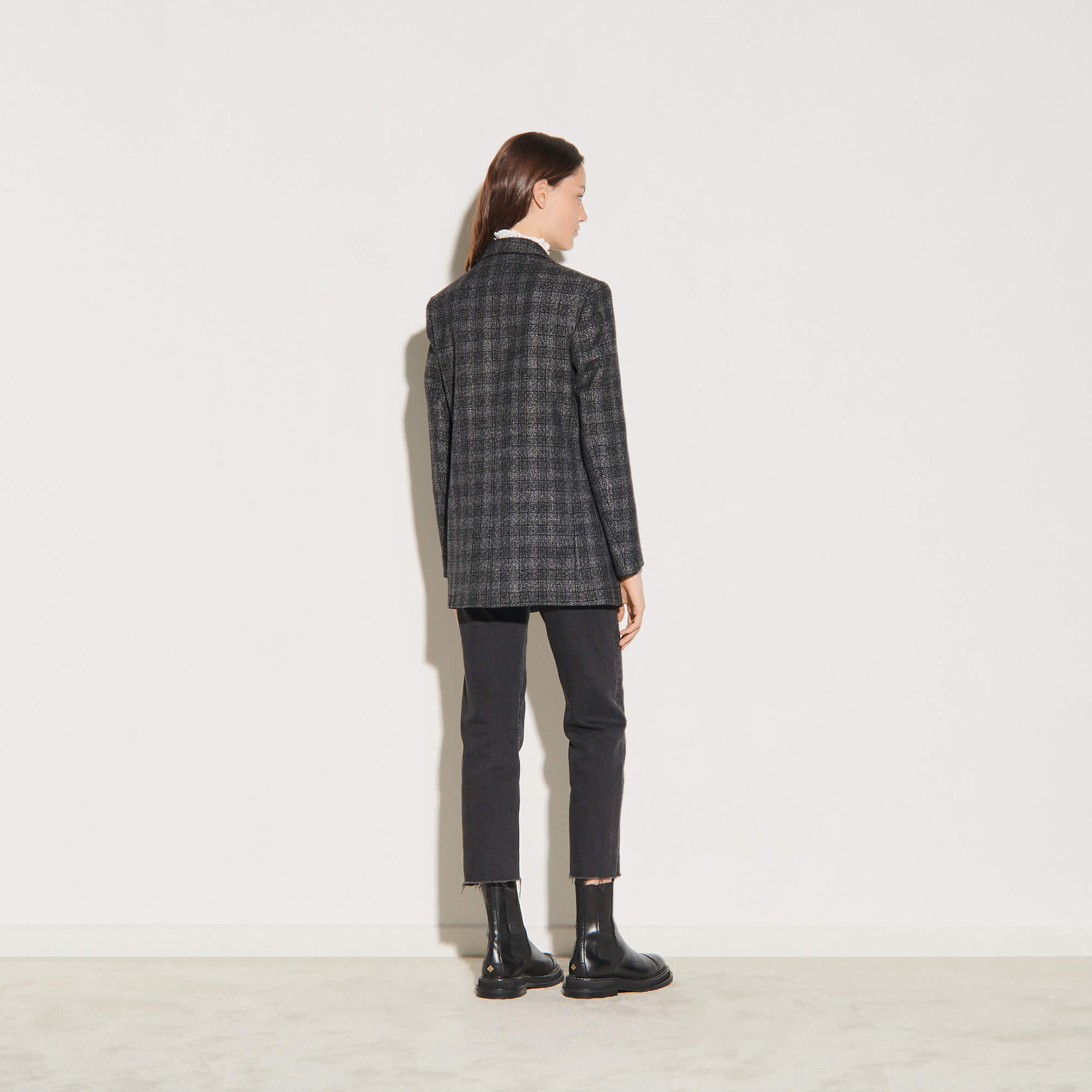 Checked tailored jacket - Grey