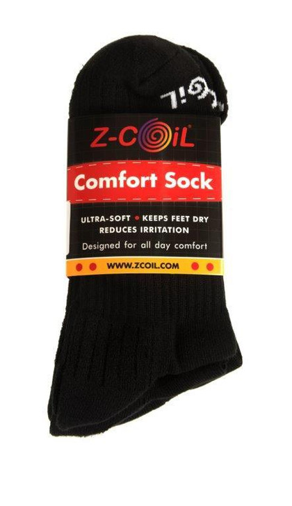 Z-CoiL® Comfort Socks - Ankle Black - 3 Pack