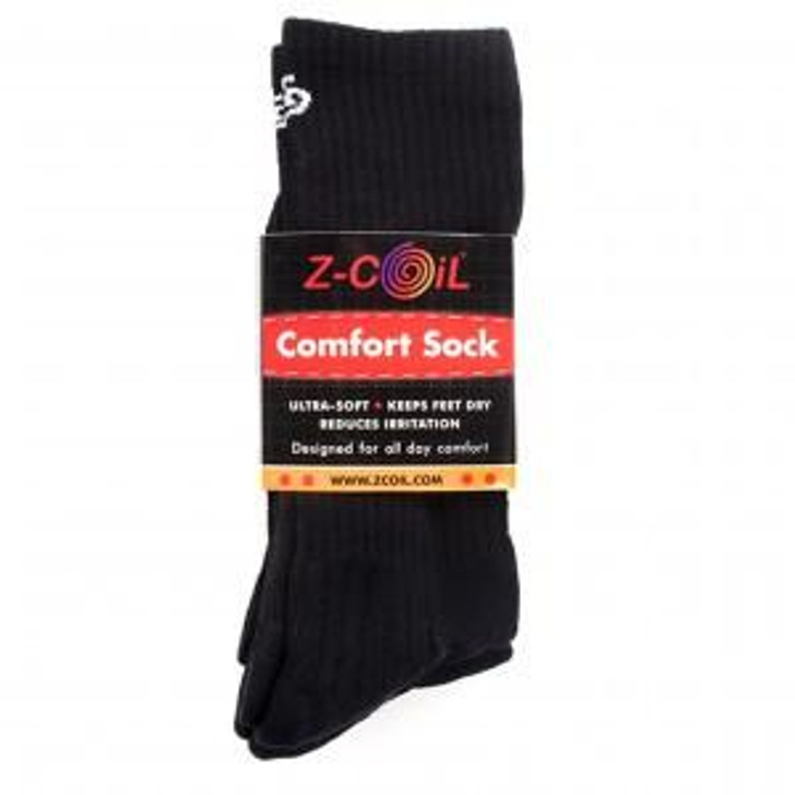 Z-CoiL® Comfort Socks Black - Mid Calf - 3 Pack