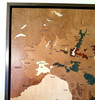 Italy wine regions inlay marquetry wood map detail