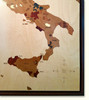 Italy Wine Regions Marquetry Inlay Wood Map