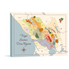 Napa Sonoma Wine Regions stretched canvas gallery wrap
