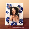 "Personalized photo-frame ""Blue Flowers"""