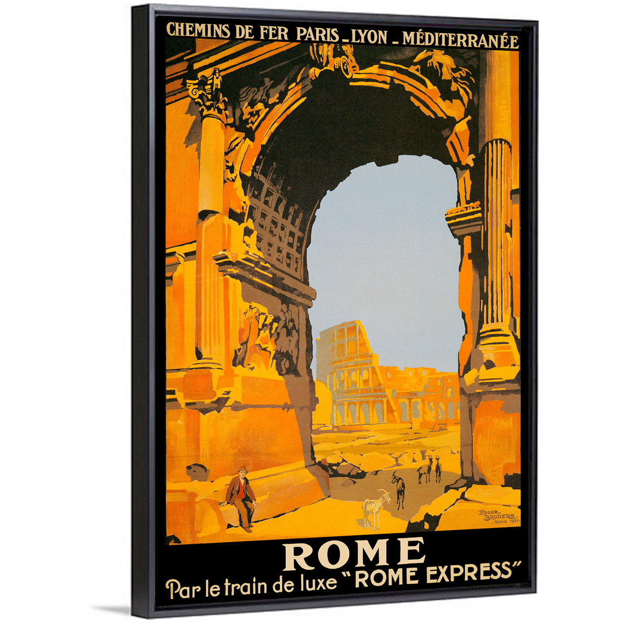 Rome by broders Italian vintage poster