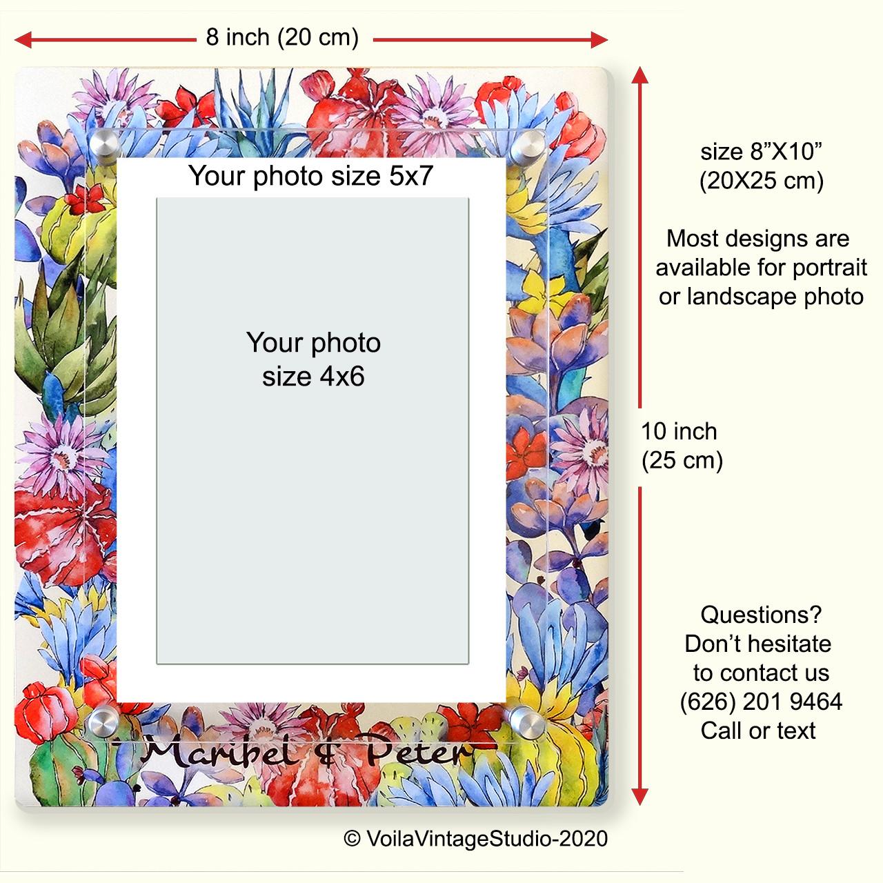 "Personalized photo-frame ""CACTUS"""