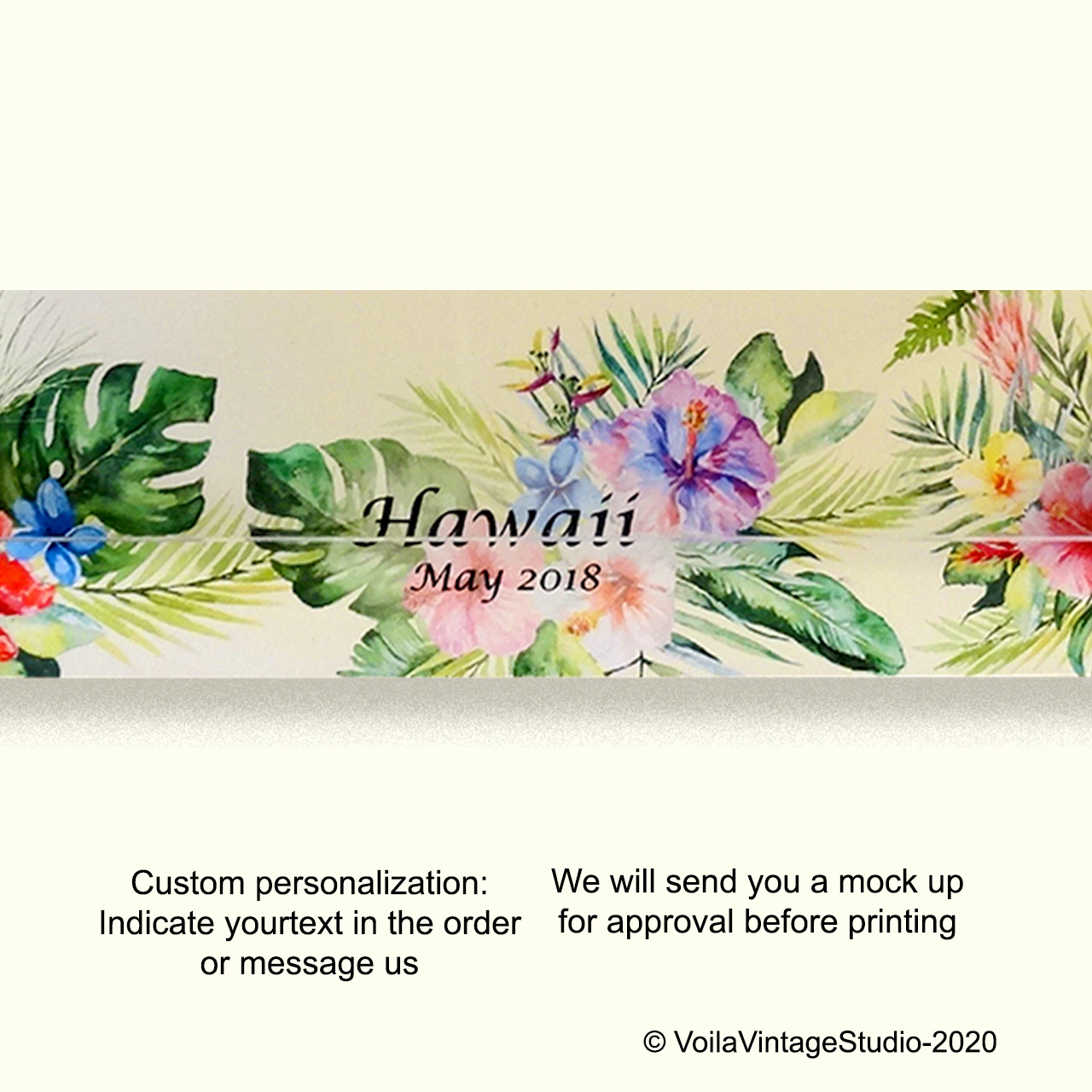 "Personalized photo-frame ""HAWAII"" landscape"