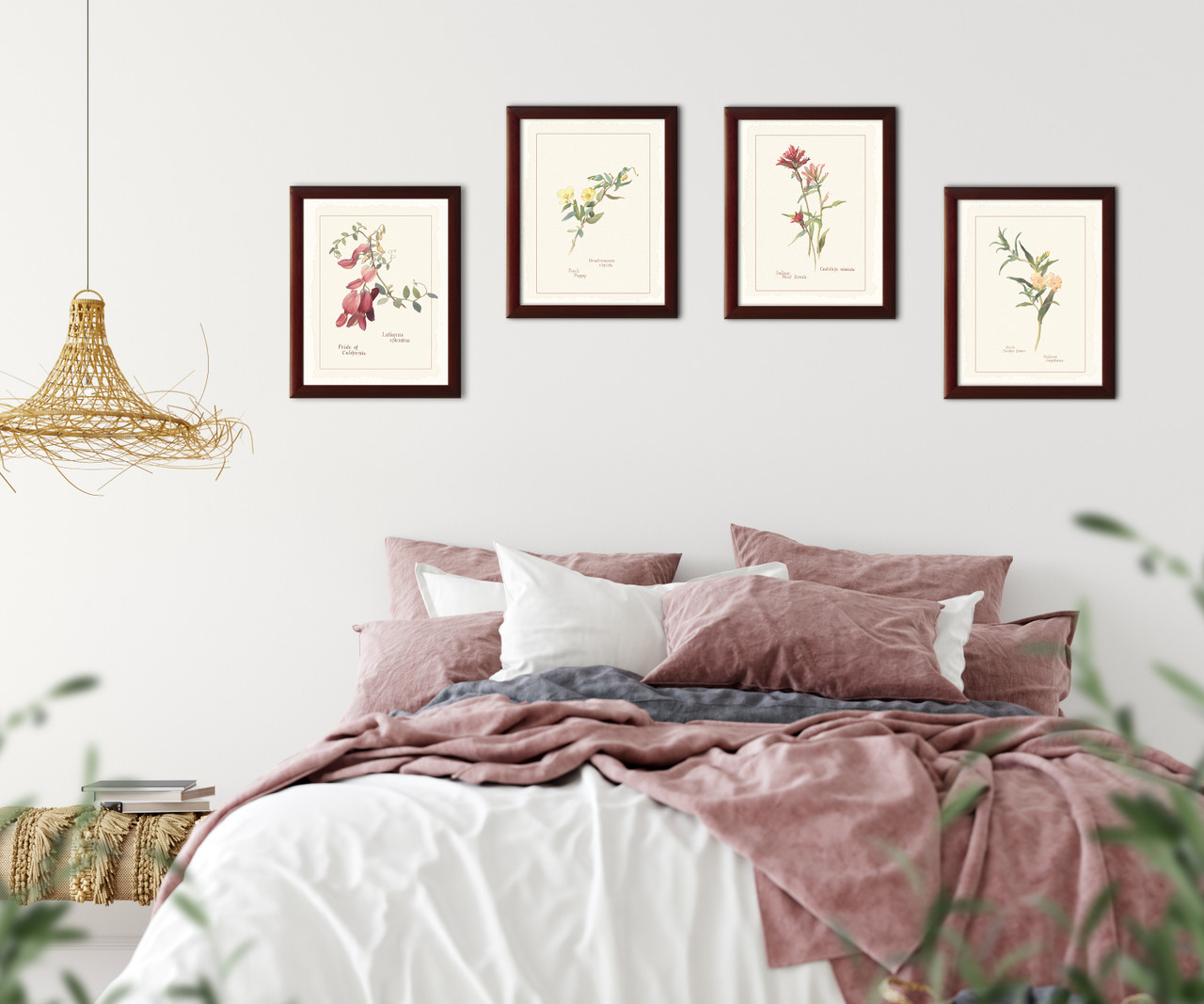 with cherry frame