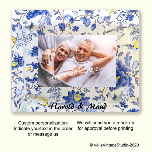 "Personalized photo-frame ""CHINA BLUE"""