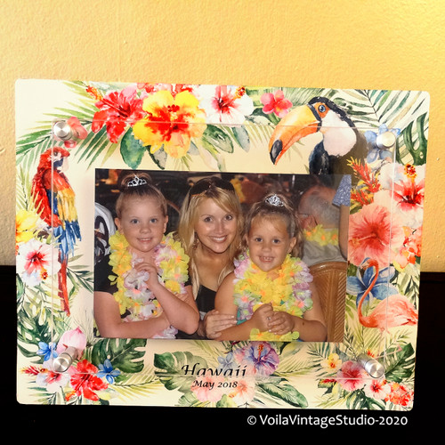 "Personalized photo-frame ""HAWAII"" landscape"