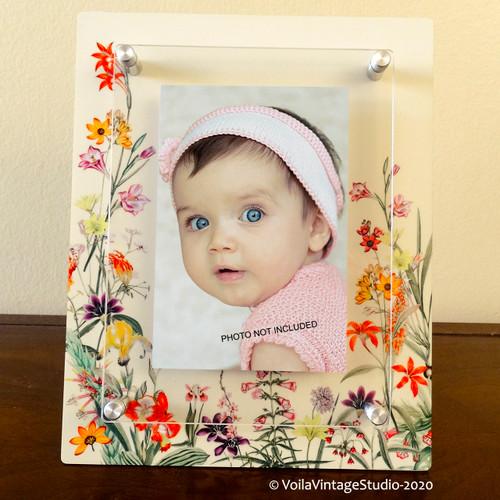 """Baby photo-frame """"FLEURS DES CHAMPS"""""""