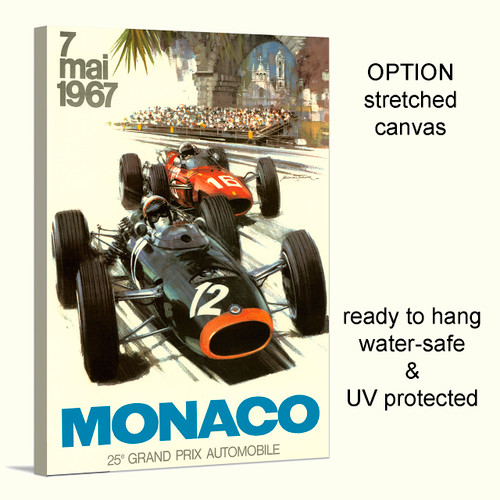 Grand Prix Monaco 1967 canvas