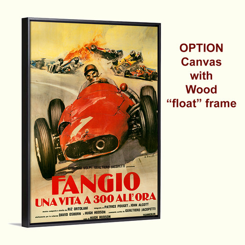 Fangio life movie poster on canvas