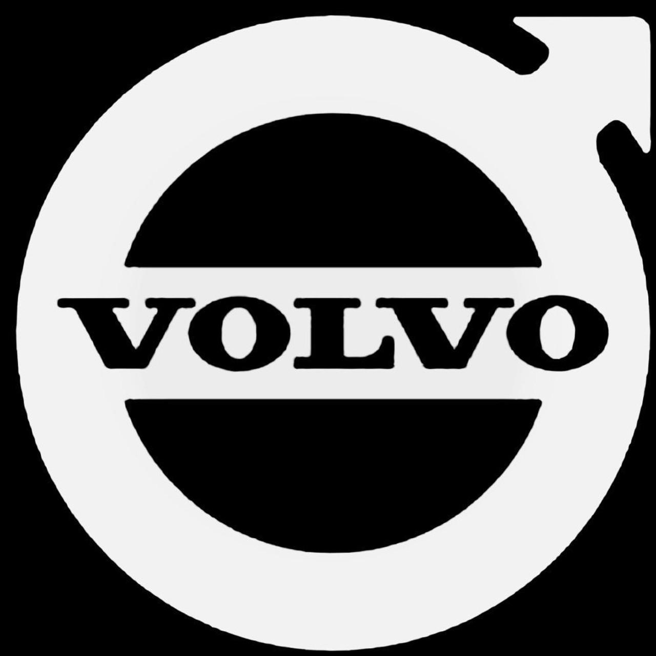 VOLVO Logo Vinyl Decal Sticker WHITE