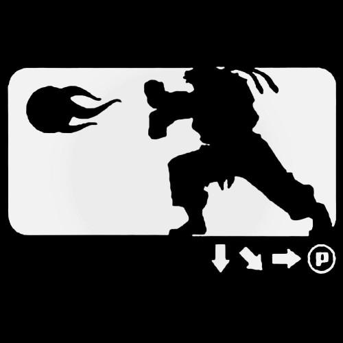 Street Fighter Ryu Ken Fighting Gaming Vinyl Decal Sticker
