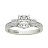 Leila sterling silver engagement ring