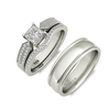 Molly sterling silver engagement set and Degas weddingband