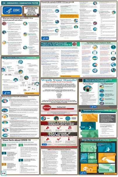 CDC Coronavirus Poster Combo
