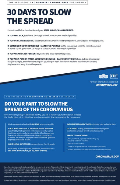 The President's Coronavirus Guidelines for America COVID19 (COVIDGLFA)