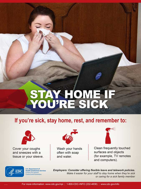 Stay Home If You're Sick poster