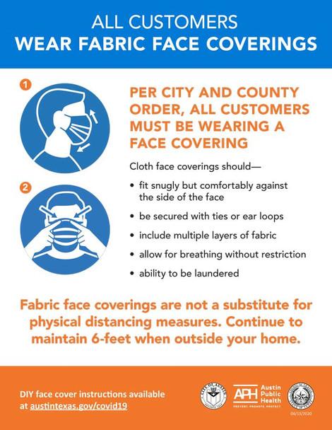 Austin, Texas COVID Face Coverings