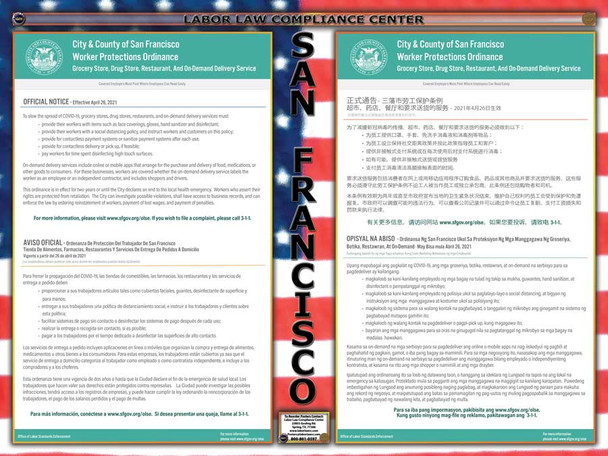 San Francisco, California Worker Protections Ordinance Supplemental Poster