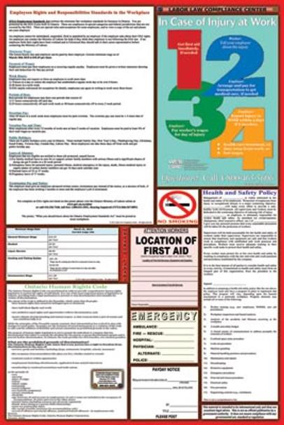 Ontario Canada Labor Law Poster