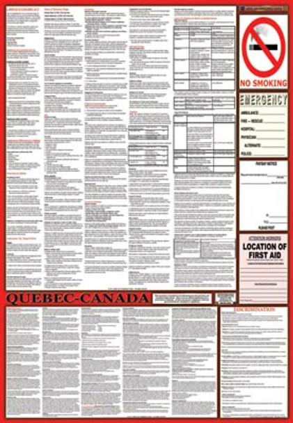Quebec, Canada Labor Law Poster