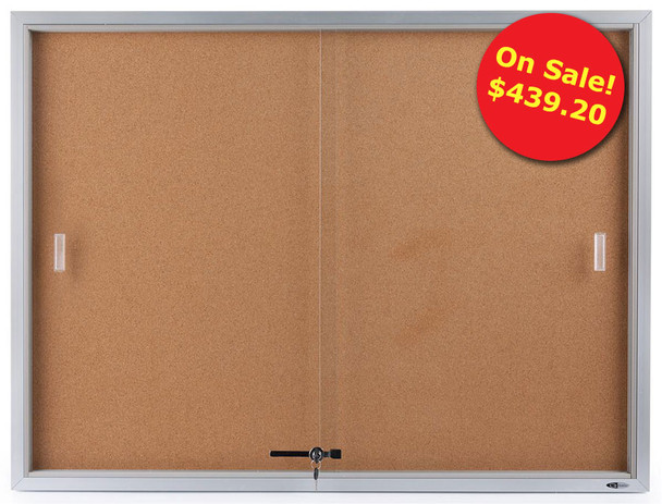 48 x 36 Enclosed Cork Board Display Case