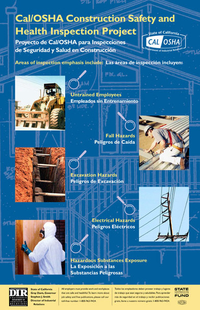 California Construction Safety State Specialty Poster