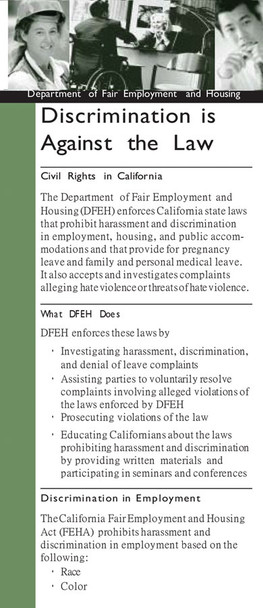 California's Discrimination New Hire Pamphlet Packet