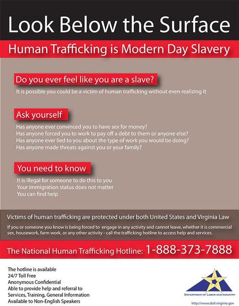Virginia Human Trafficking Poster
