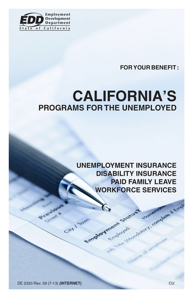 California's Unemployment Insurance New Hire Pamphlet Packet