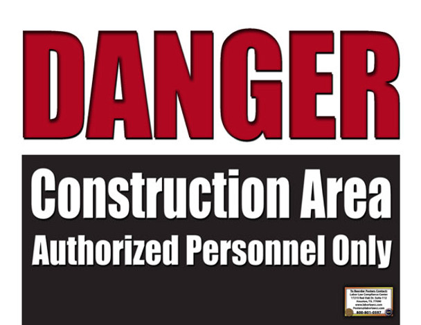 Danger Construction Safety Poster