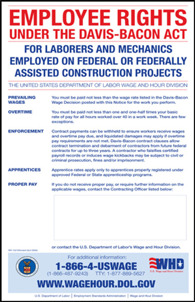 Davis Bacon Federal Contracting Poster