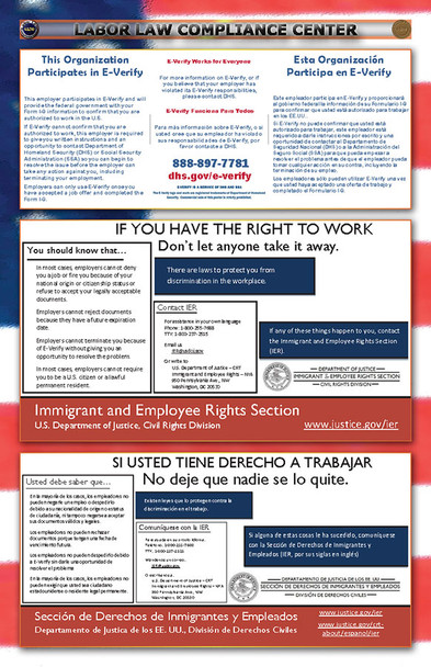 Federal E-Verify Combination Poster