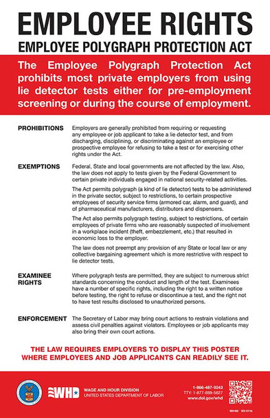 Federal Employee Polygraph Protection Act (EPPA) Posting