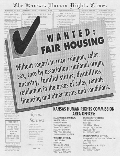 Kansas Fair Housing Policy Poster