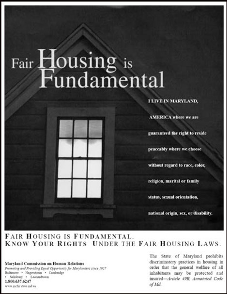 Maryland Fair Housing State Specialty Policy Poster