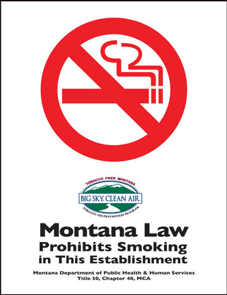Montana No Smoking State Specialty Policy Poster