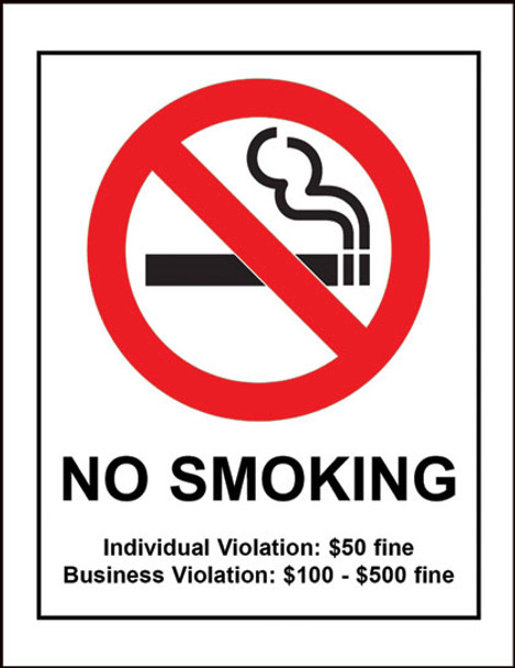 Tennessee No Smoking Policy Poster