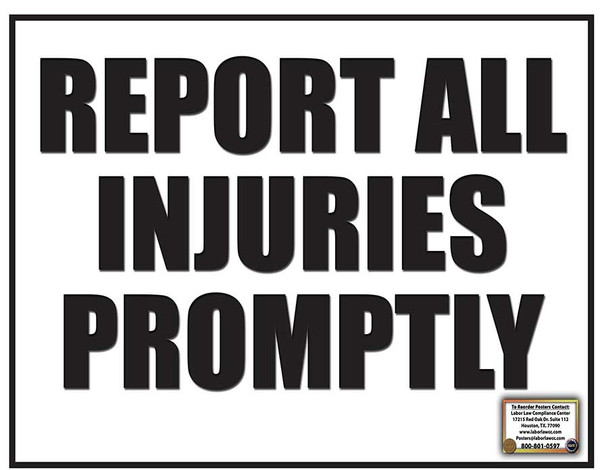 Report All Injuries Poster