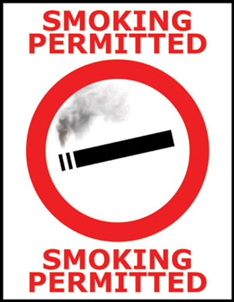 Smoking Permitted Policy Poster