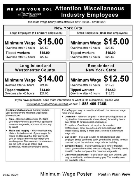 New York Minimum Wage