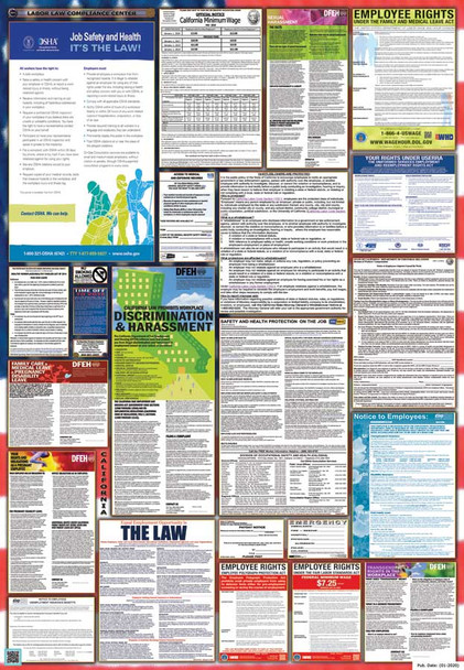 California Labor Law Posters State and Federal Combo 2021