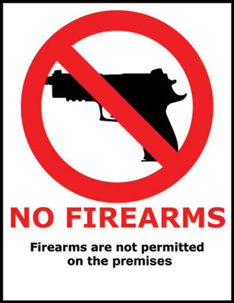 No Firearms Safety Specialty Poster