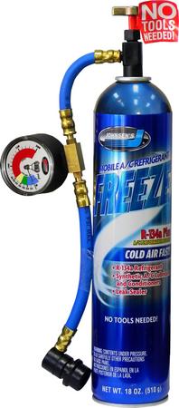 6407   Freeze Plus with Charging Hose & Glow Gauge
