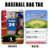 Personalized Baseball Luggage Tag with Loop